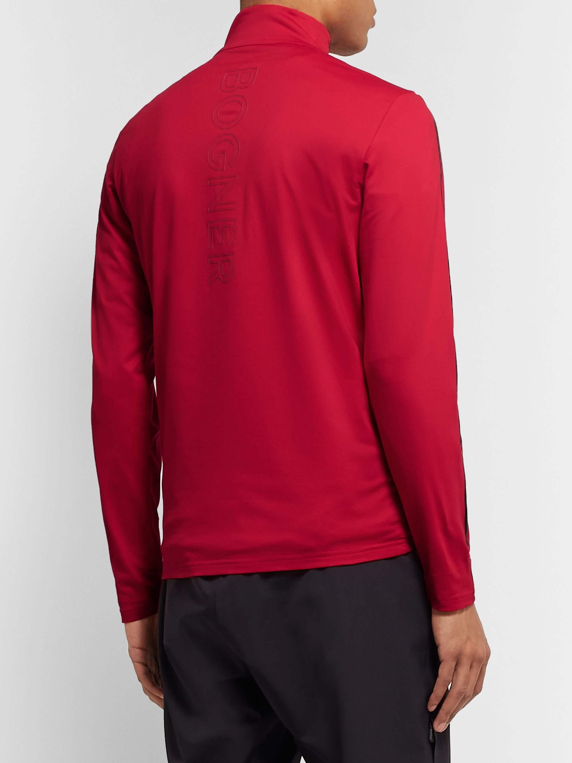 Bogner Len Stretch-Jersey Half-Zip Base Layer
