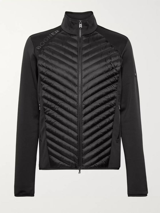 Bogner Maksim Quilted Shell and Stretch-Jersey Base Layer
