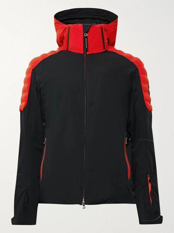 Bogner Fred-T Colour-Block Quilted Hooded Ski Jacket