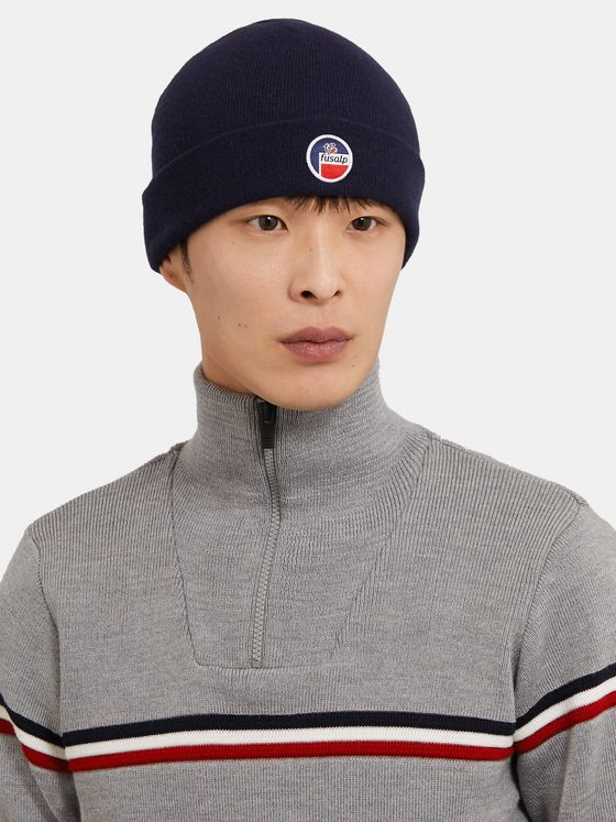 Fusalp Styx Logo-Appliquéd Mélange Wool and Cashmere-Blend Beanie