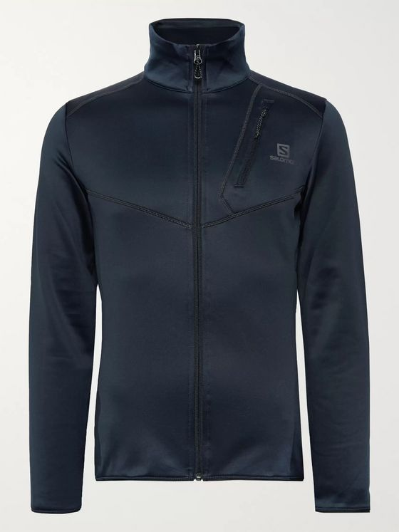 Salomon Discovery Stretch-Jersey Zip-Up Mid-Layer