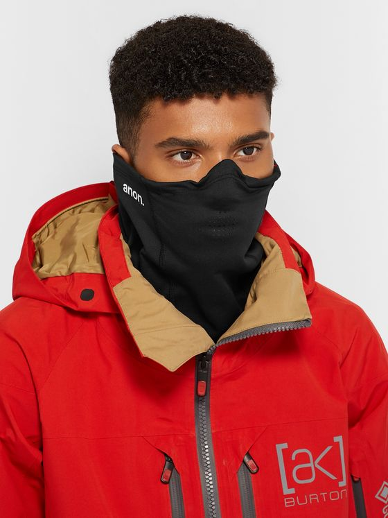 ANON MFI Goggle-Compatible Fleece-Back Stretch-Jersey Neck Warmer