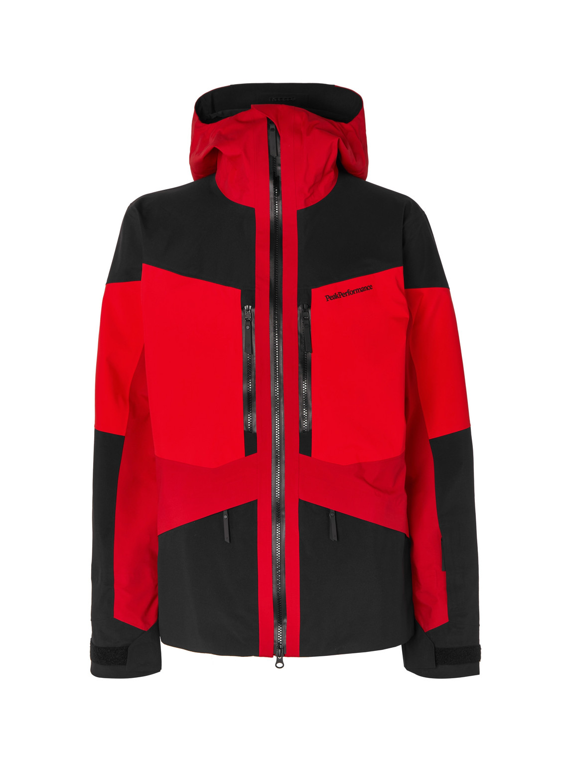 peak performance - gravity colour-block gore-tex ski jacket - men - red - l