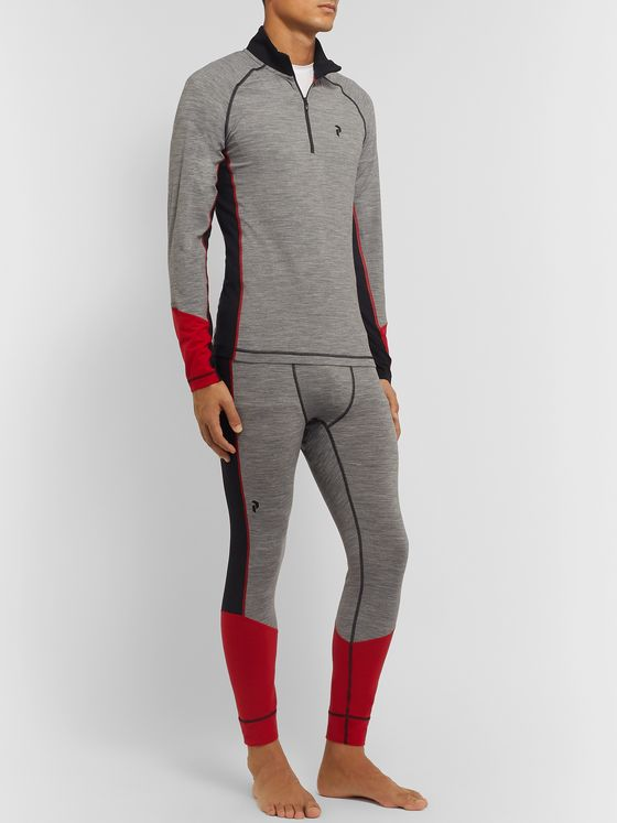 Peak Performance Colour-Block Magic Merino Wool-Blend Ski Tights