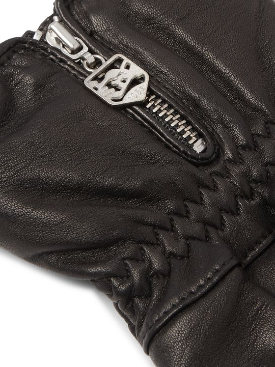 Hestra Alpine Wool-Blend Lined Leather Ski Gloves