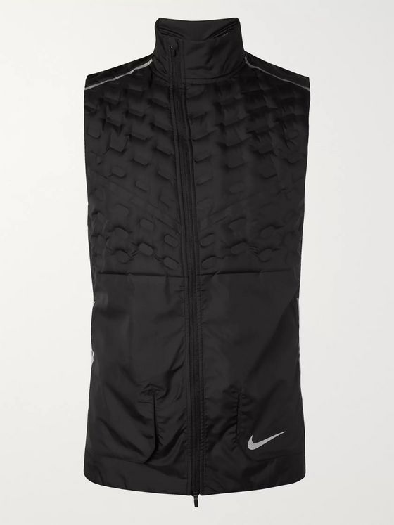 Nike Running Aeroloft Quilted Shell Down Gilet
