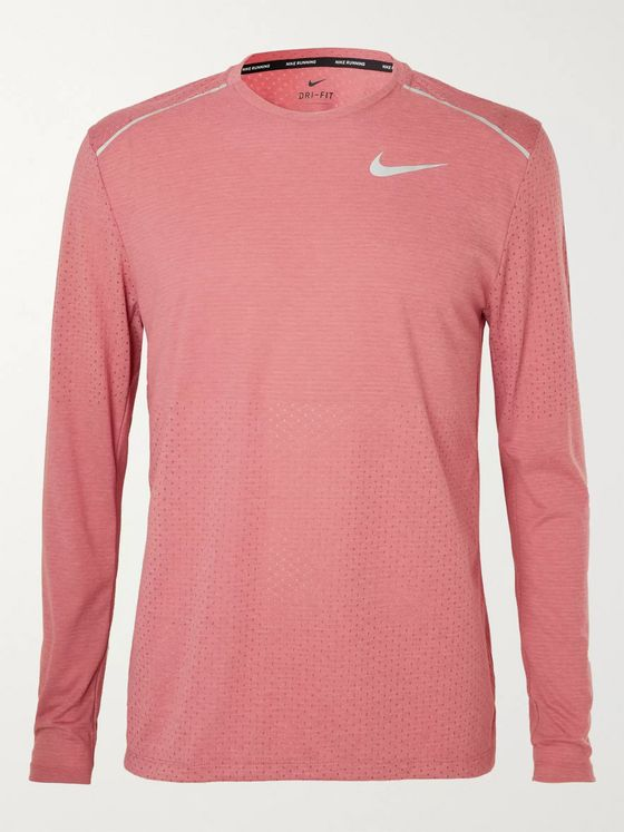 Nike Running Breathe Rise 365 Perforated Mélange Dri-FIT T-Shirt