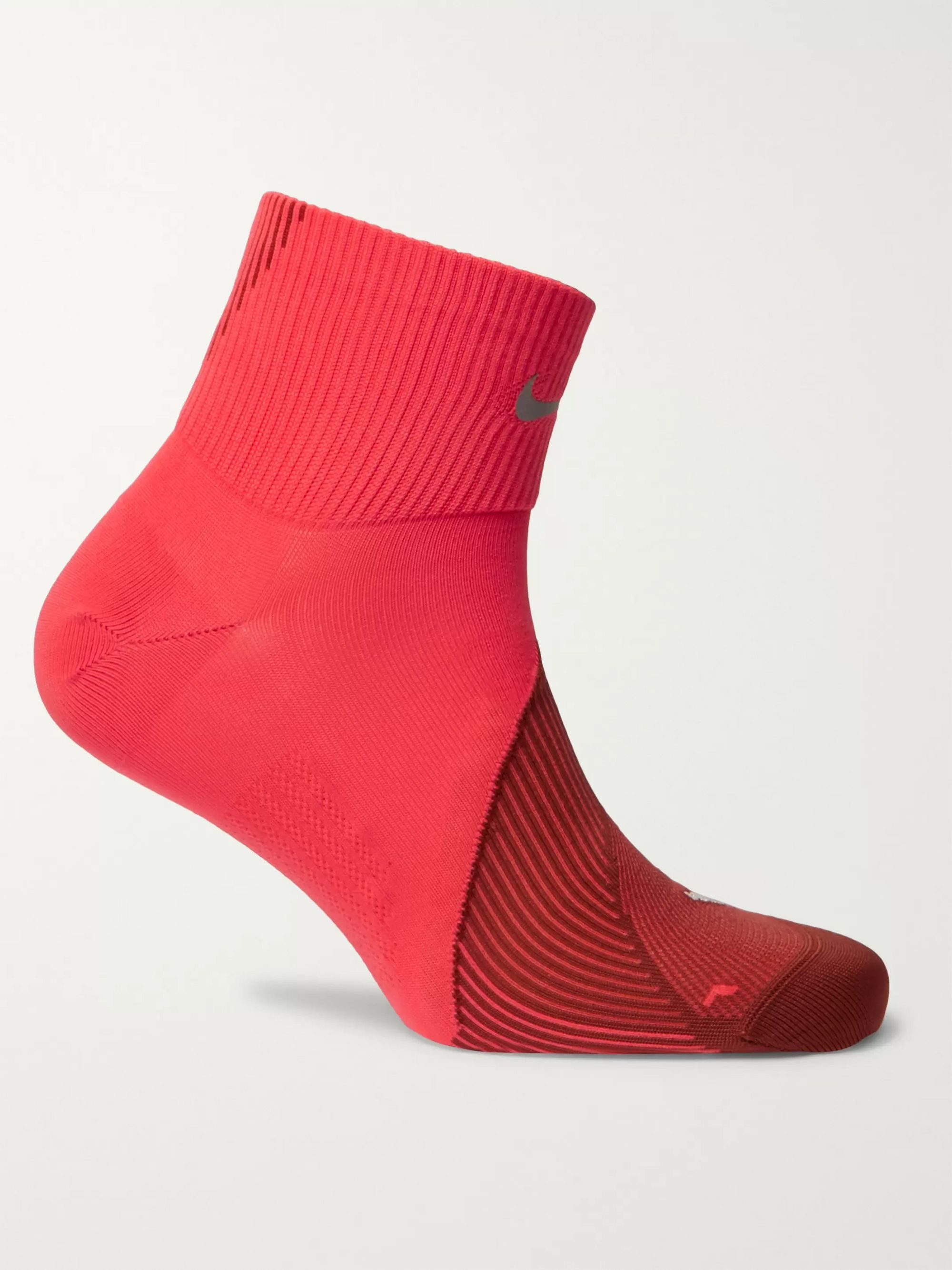Nike Running Spark Lightweight Quarter Stretch-Knit Running Socks