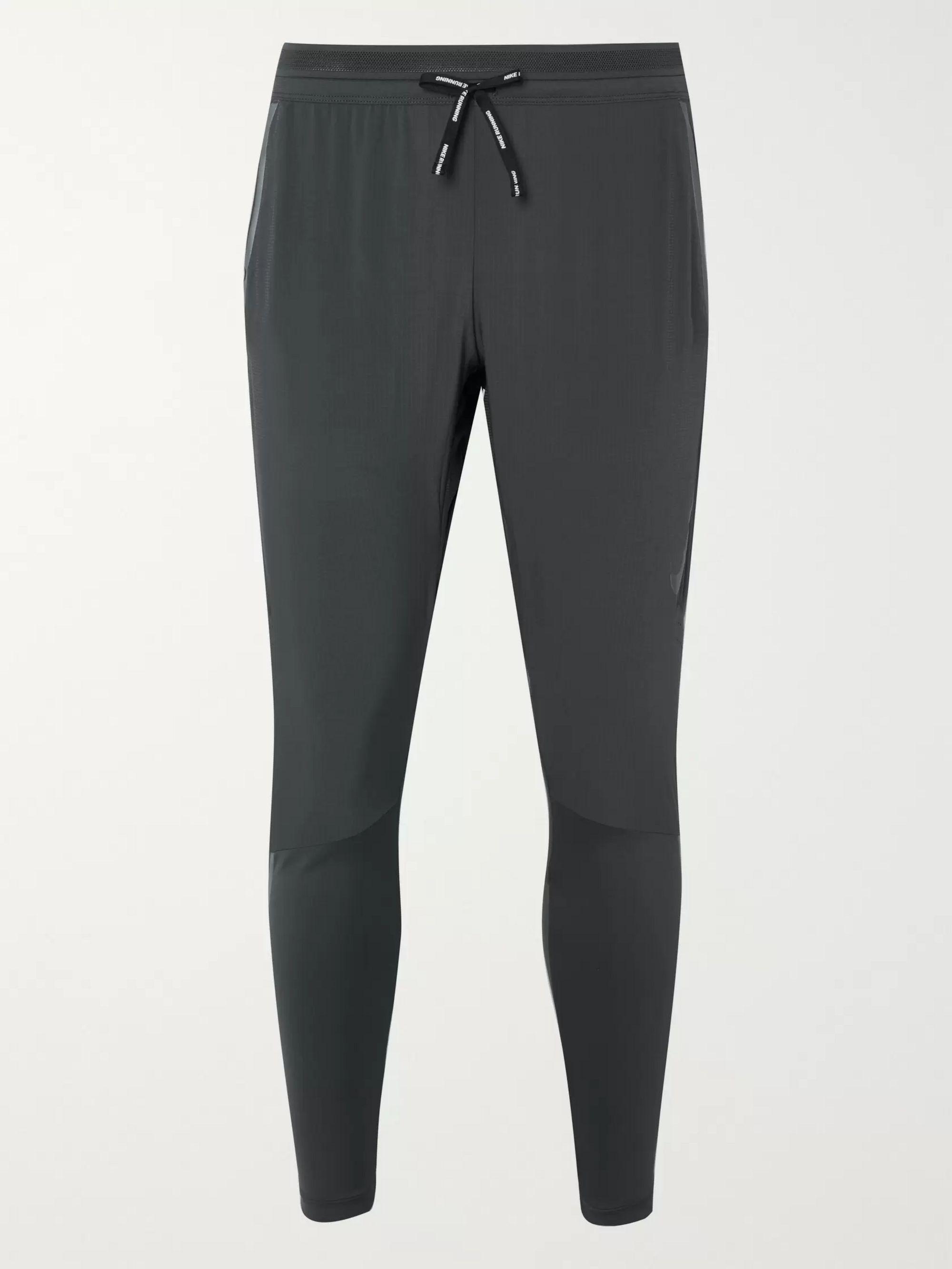 Gray Swift Slim-Fit Tapered Perforated Flex Dri-FIT Sweatpants | Nike Running | MR PORTER