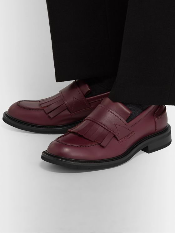 Bottega Veneta Fringed Leather Loafers