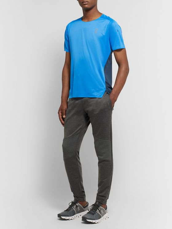 On Colour-Block Stretch-Jersey and Mesh T-Shirt