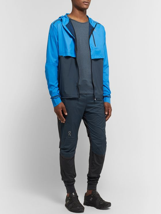 On Weather Colour-Block Micro-Ripstop Hooded Jacket