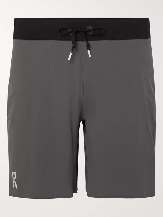 On Stretch-Shell Running Shorts