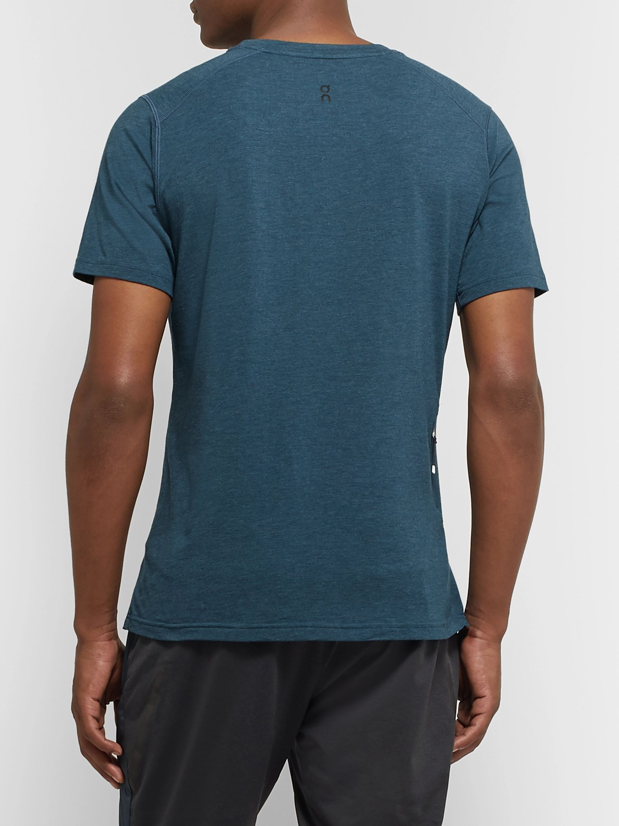 On Comfort Mélange Stretch Cotton-Blend T-Shirt