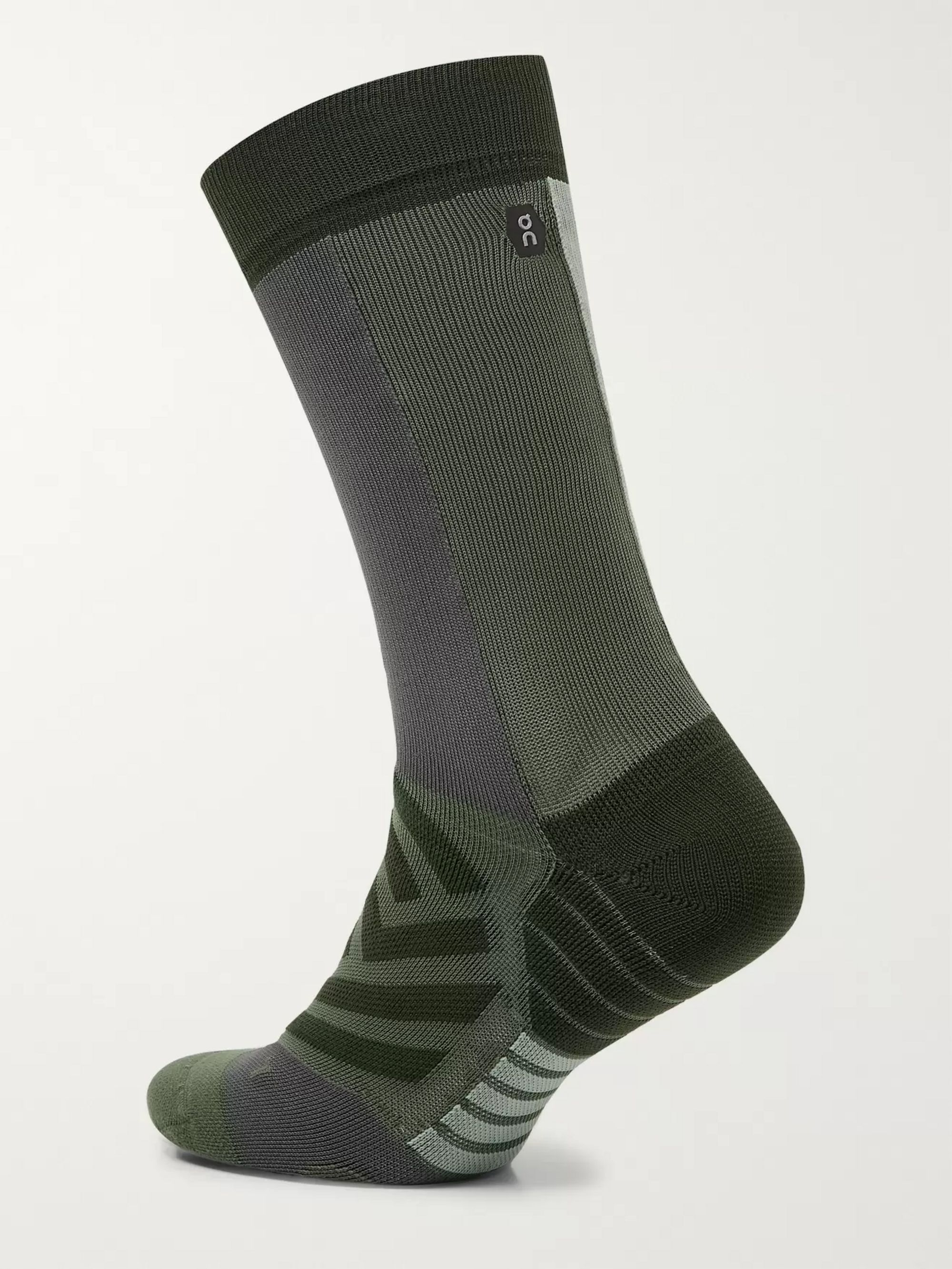 On Intarsia Stretch-Jersey Running Socks