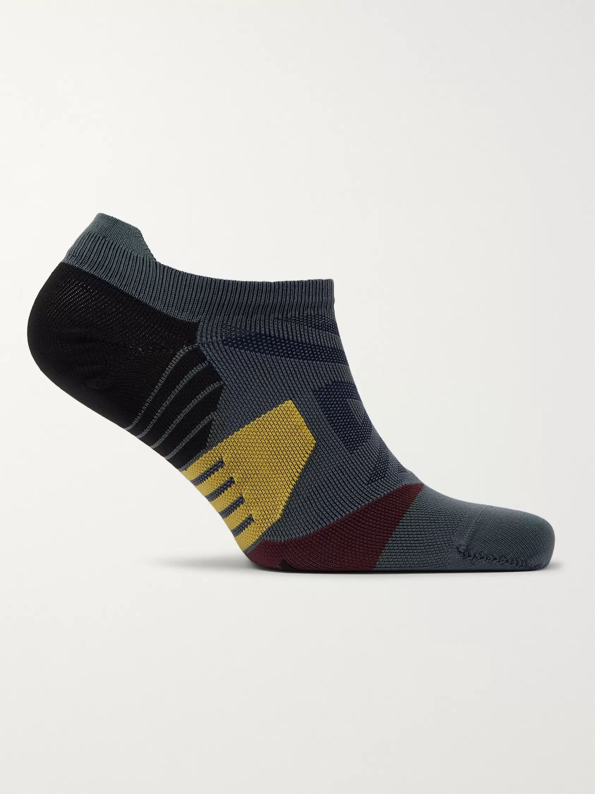 On Mesh-Panelled Tech-Jersey No-Show Socks
