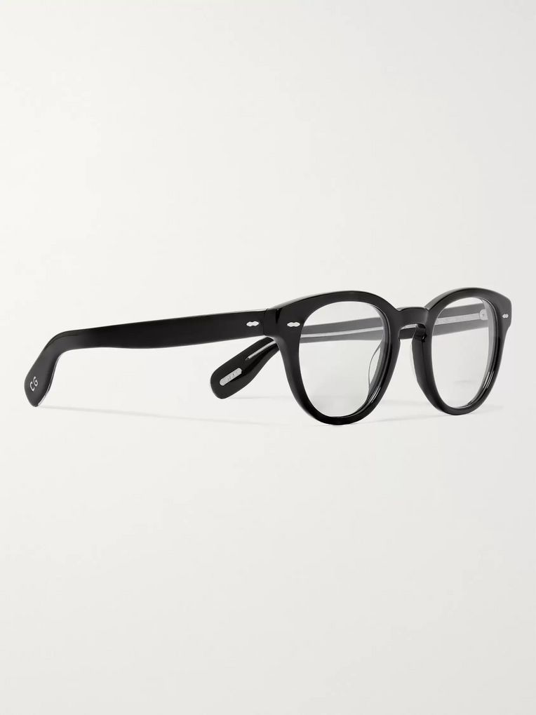Oliver Peoples Cary Grant Round-Frame Acetate Optical Glasses