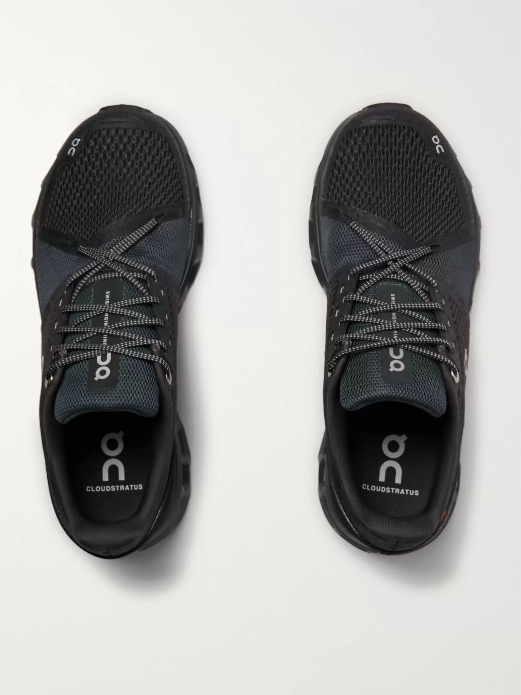 On Cloudstratus Rubber-Trimmed Mesh Running Sneakers
