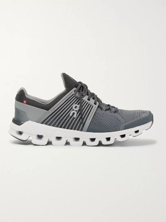 On Cloudswift Rubber-Trimmed Mesh Running Sneakers