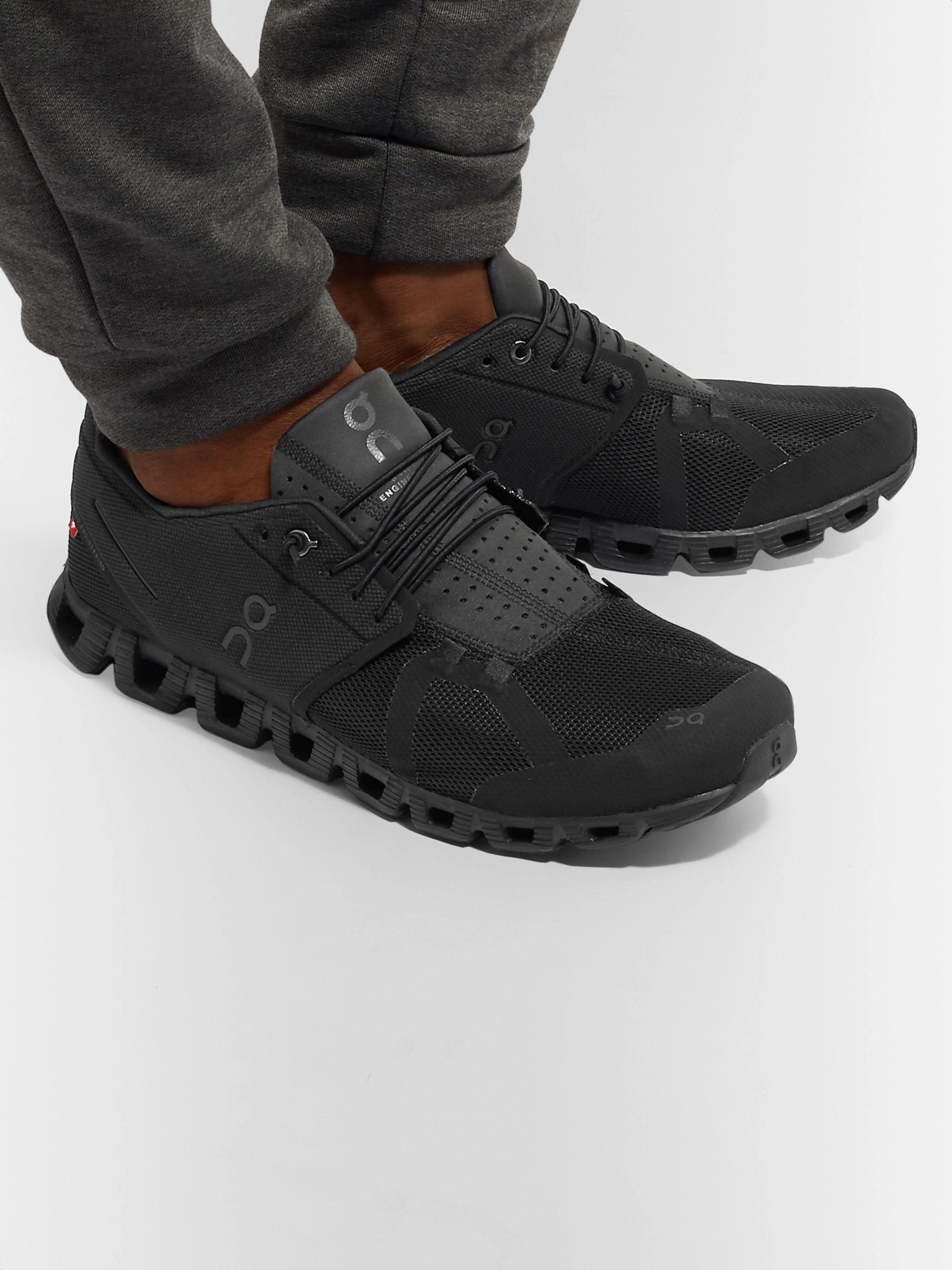 on cloud black shoes