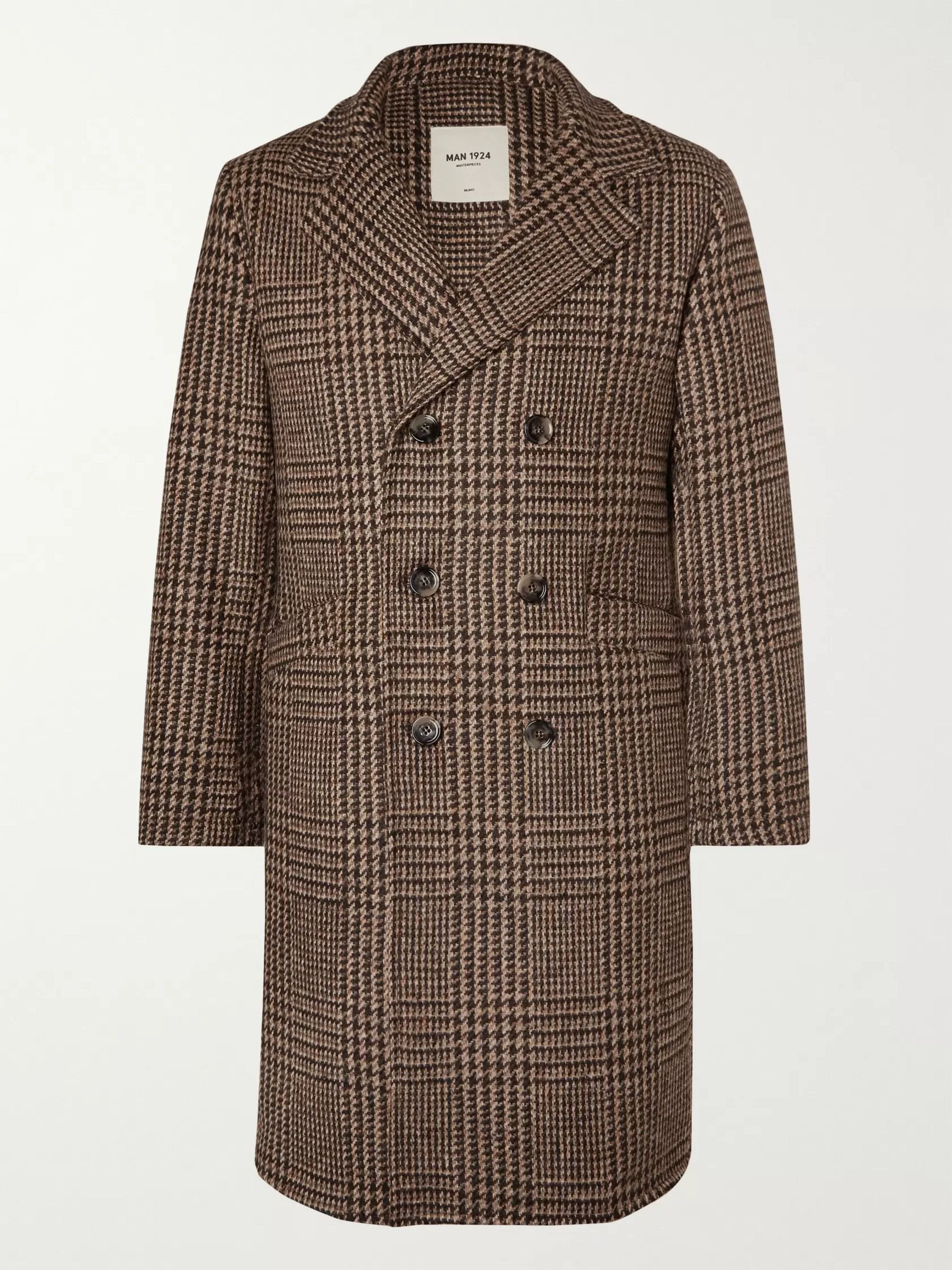 Double Breasted Prince Of Wales Checked Wool Overcoat by Mr Porter