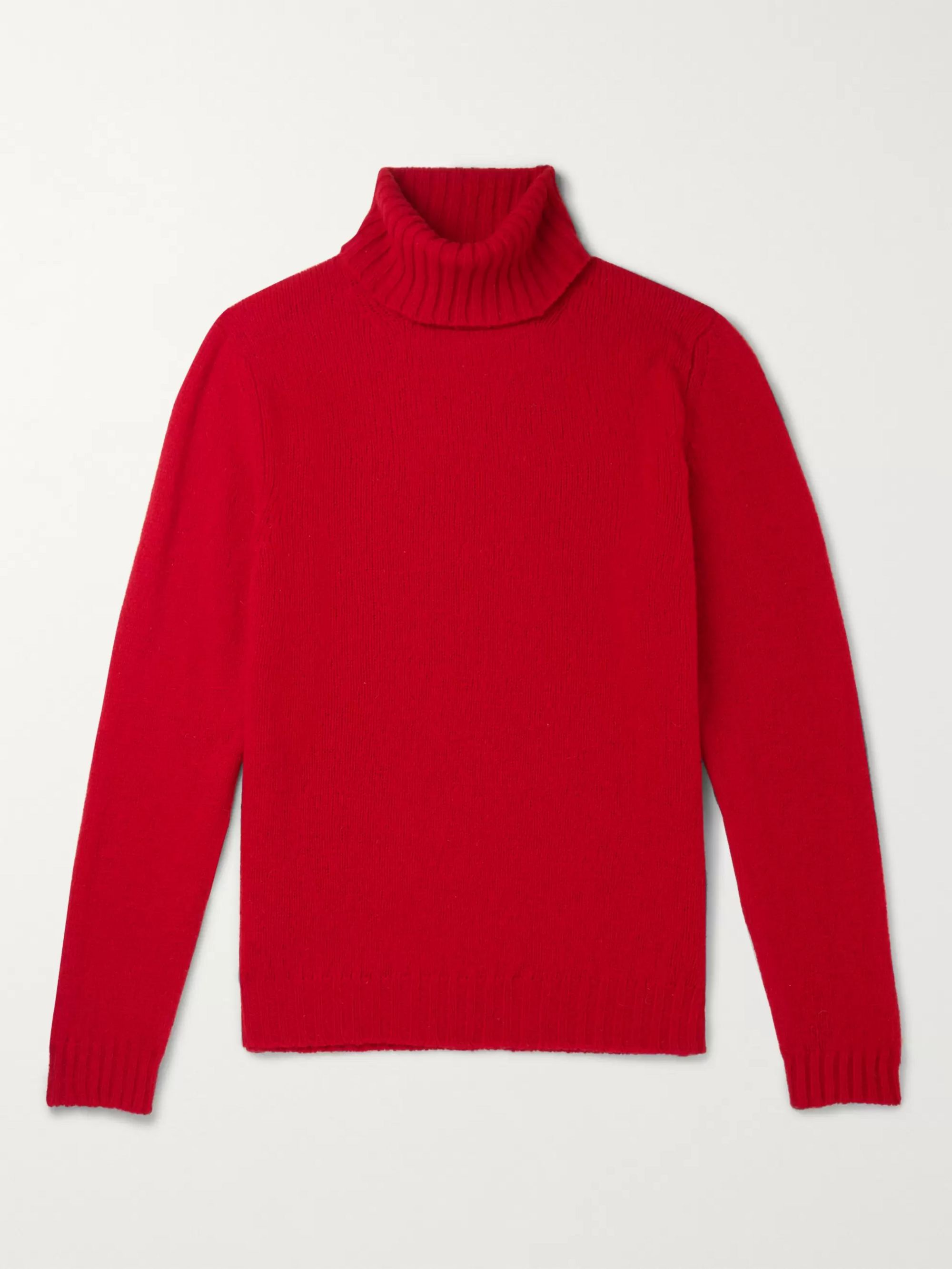 MAN 1924 Shetland Wool Rollneck Sweater