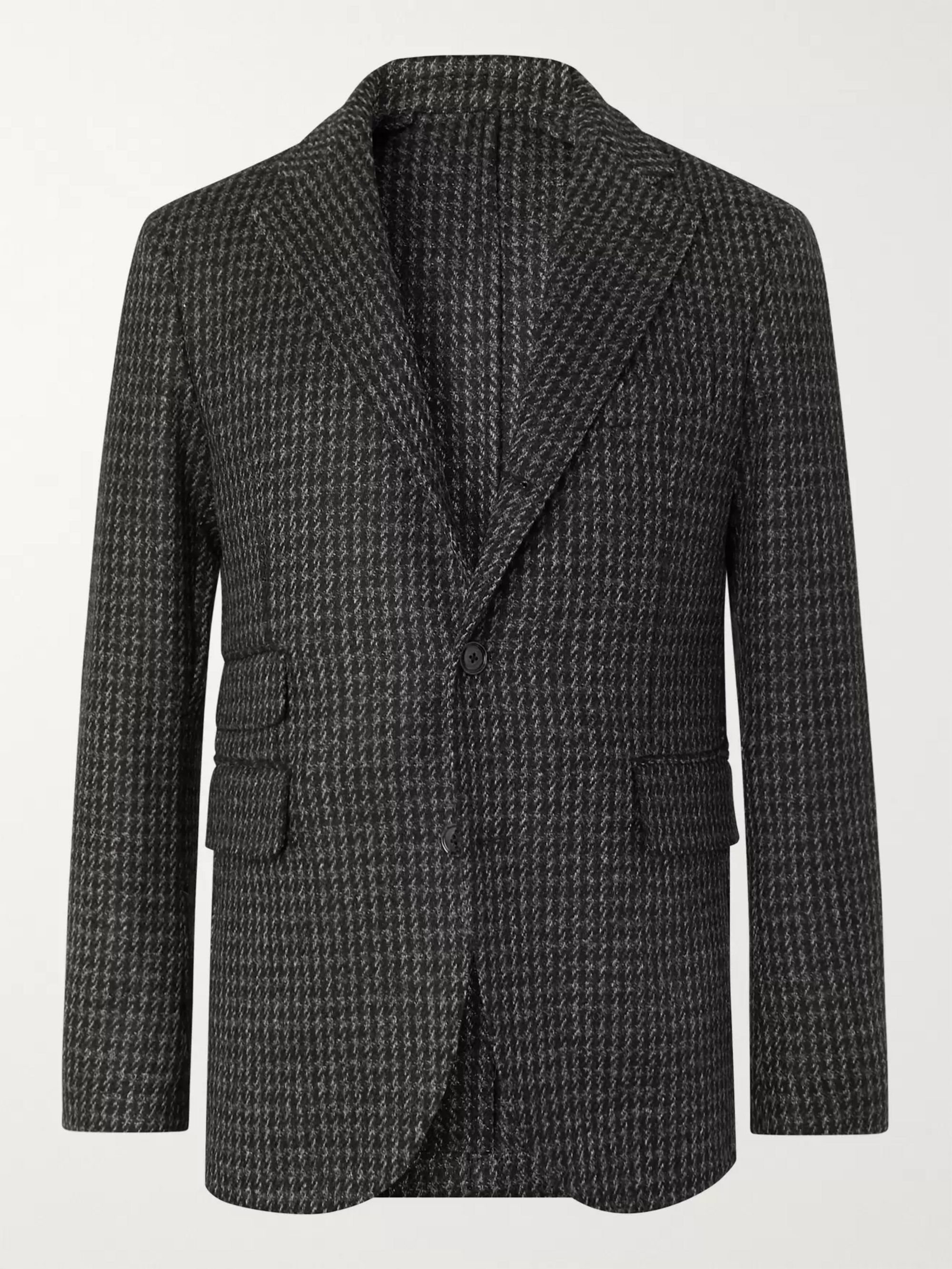 MAN 1924 Grey Kennedy Puppytooth Wool Blazer