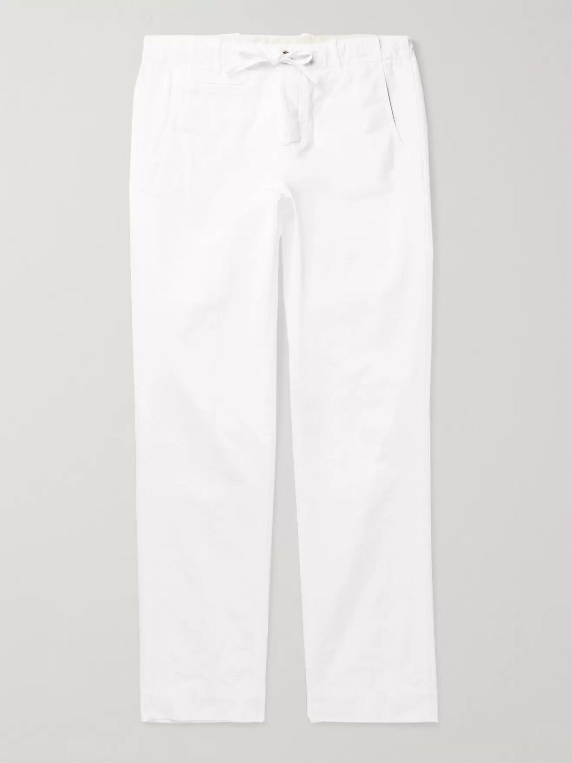 MAN 1924 Tomi Slim-Fit Cotton Drawstring Trousers