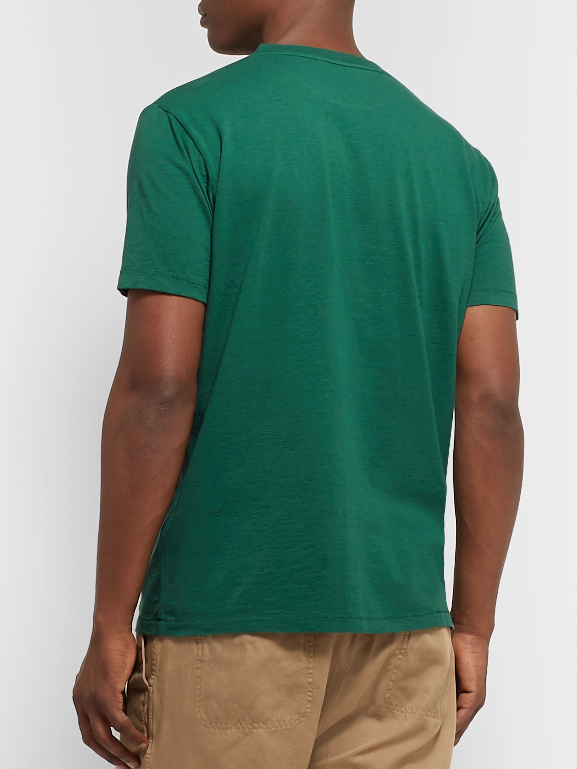Hartford Glacier Printed Cotton-Jersey T-Shirt