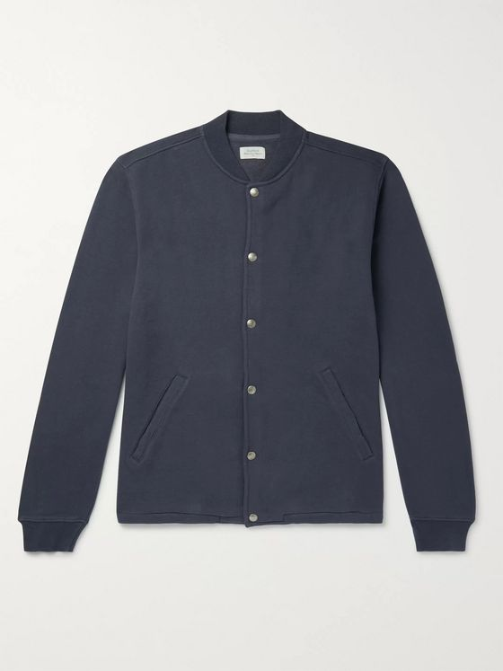 Hartford Fleece-Back Cotton-Blend Jersey Jacket
