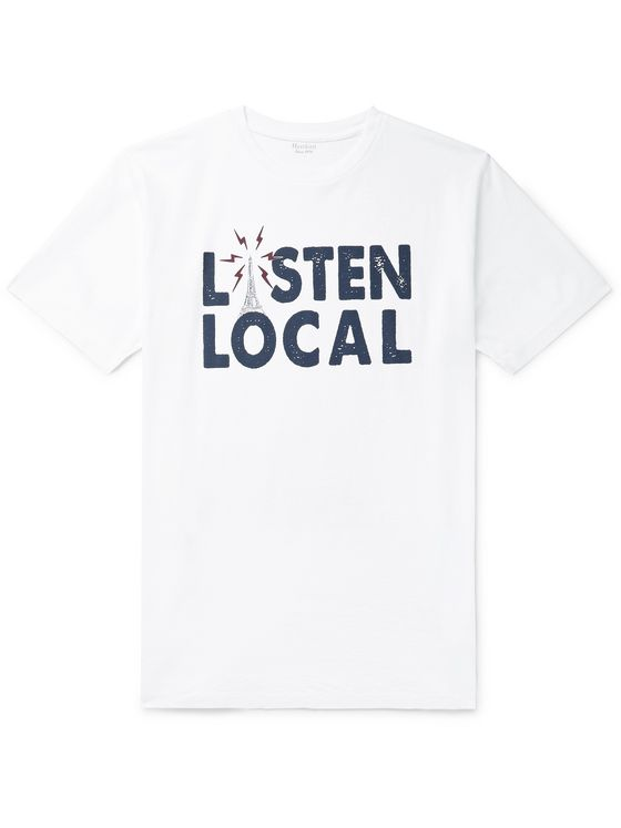 Hartford Listen Local Printed Cotton-Jersey T-Shirt
