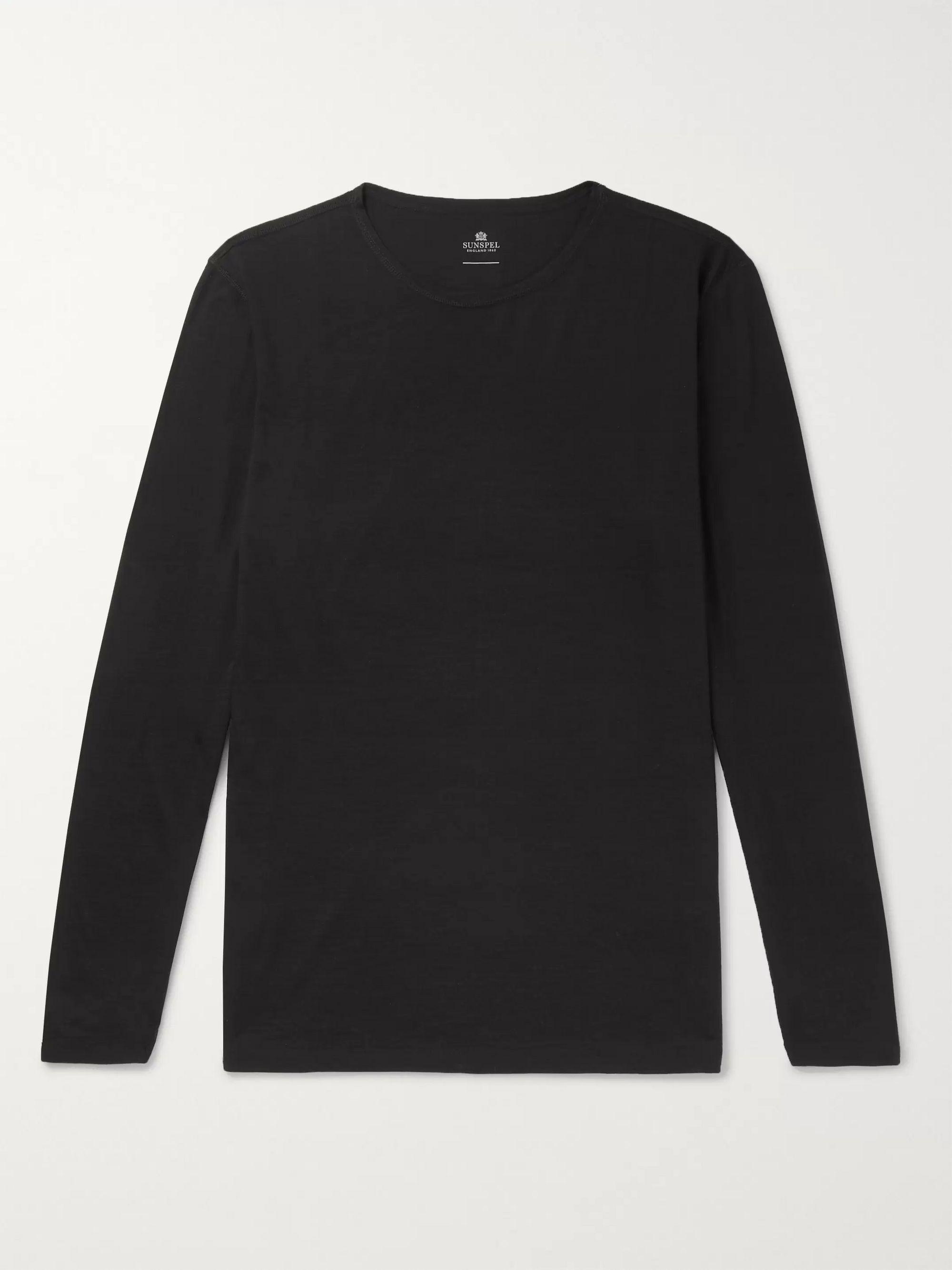 Slim-Fit Merino Wool T-Shirt