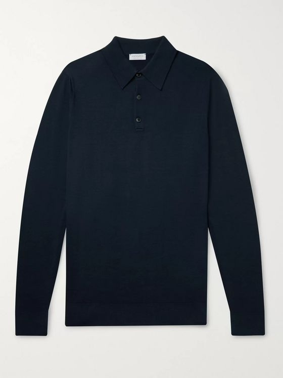Sunspel Merino Wool Polo Shirt