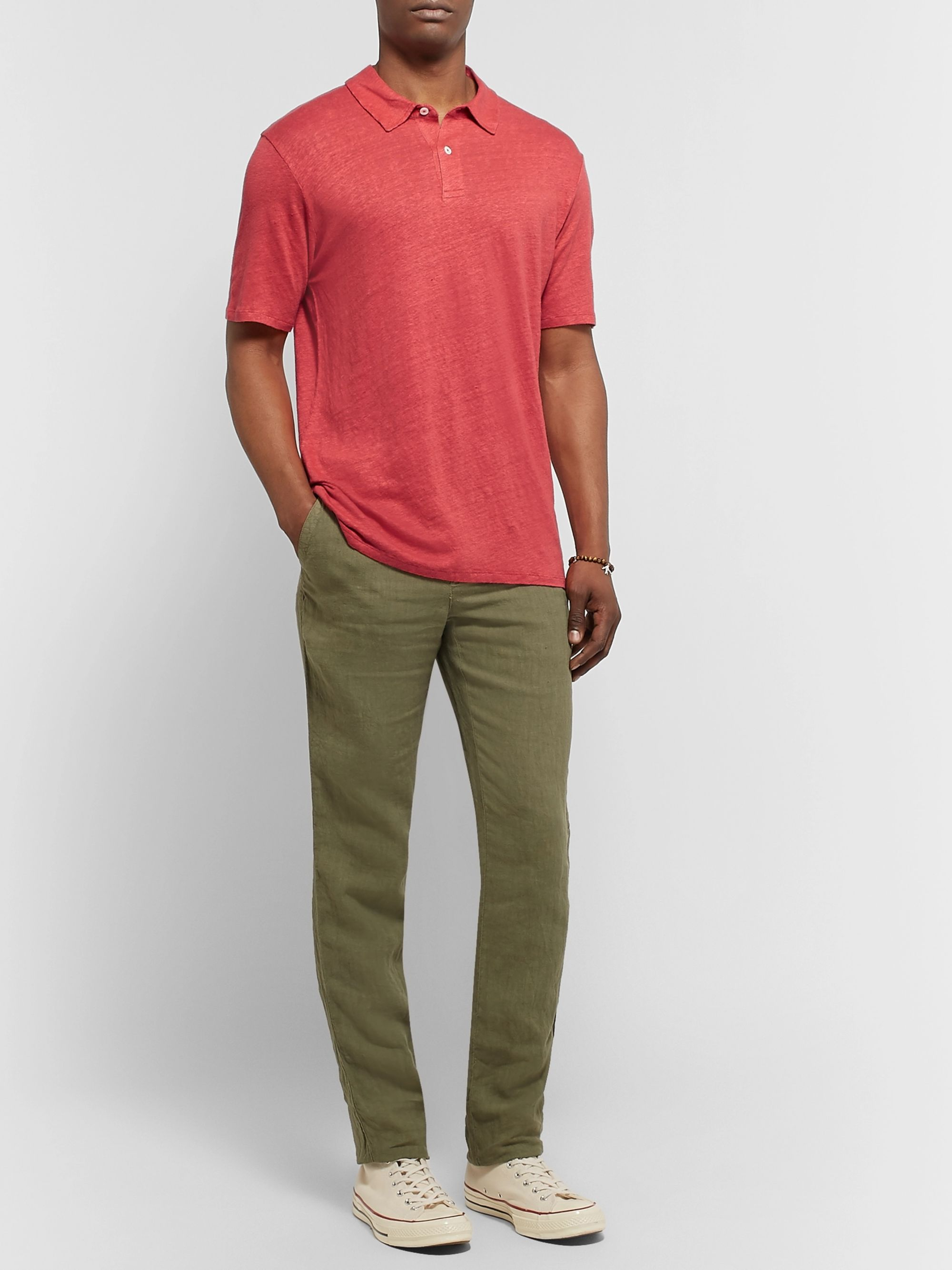 Hartford Slub Linen Polo Shirt
