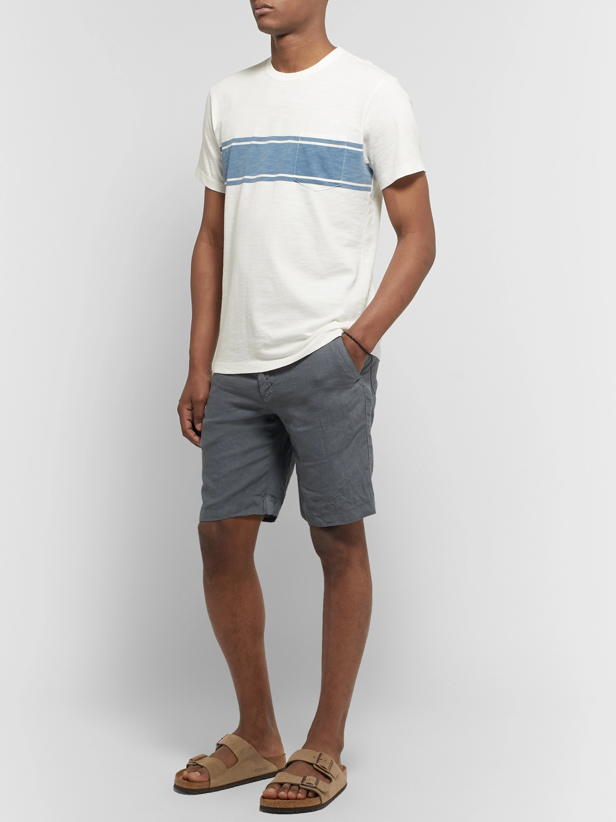 Hartford Boy Slim-Fit Linen Drawstring Shorts