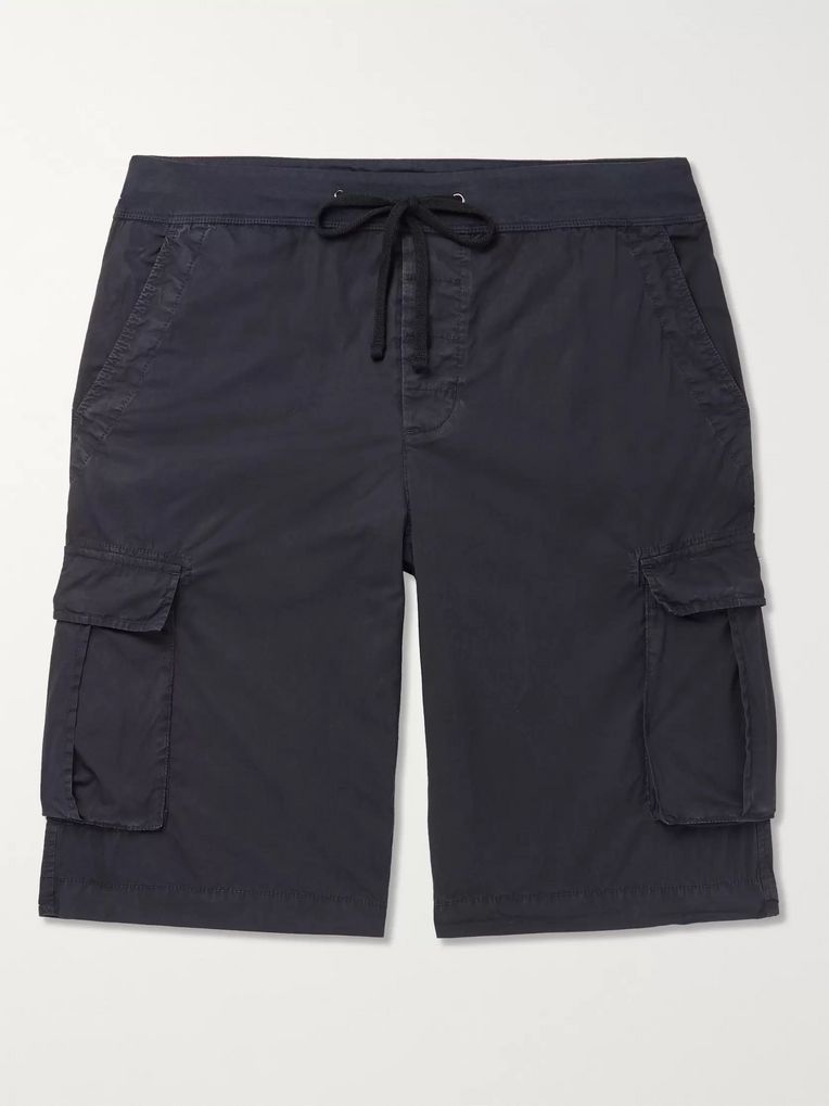 James Perse Cotton-Blend Drawstring Cargo Shorts