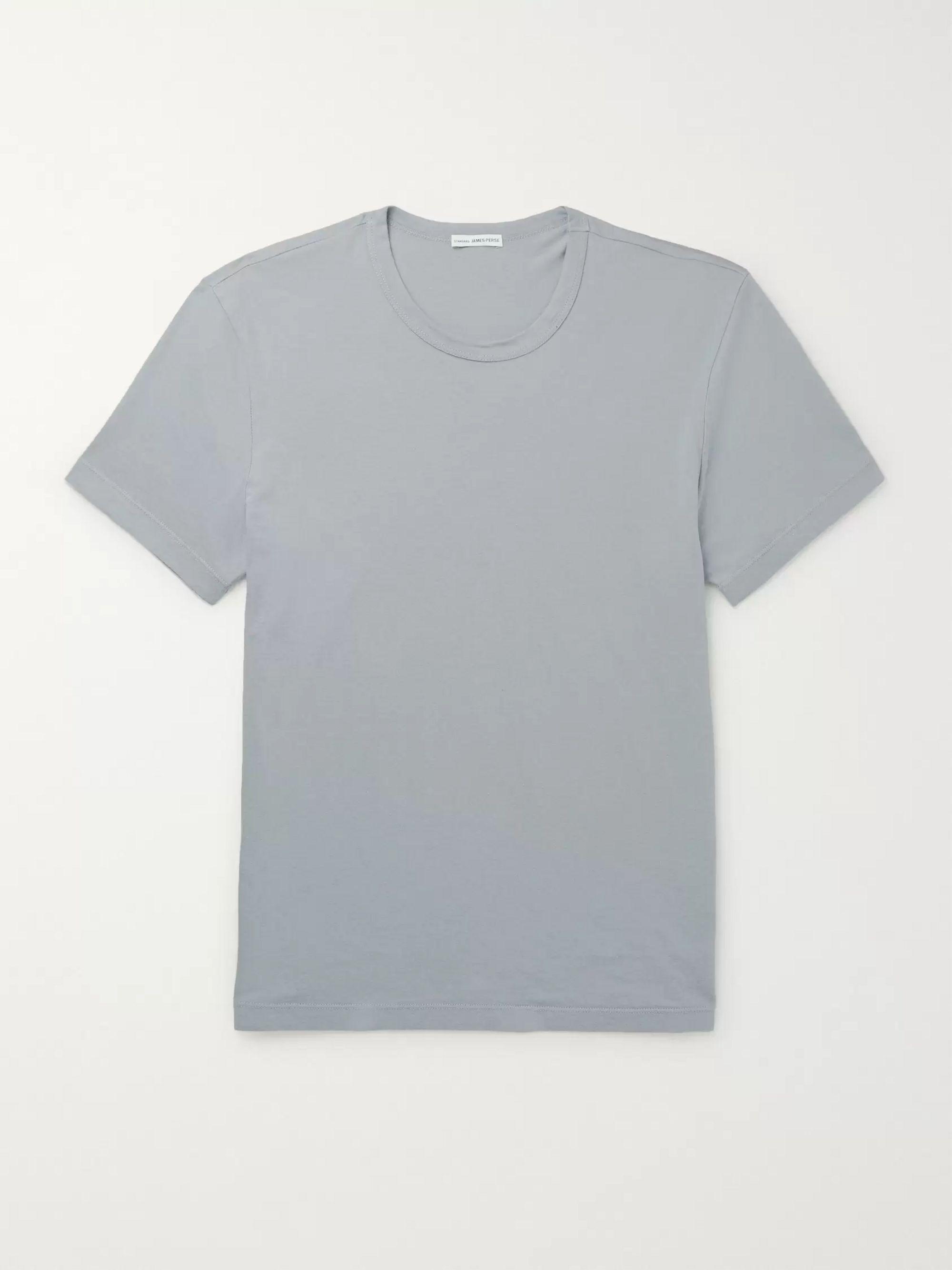 Slim Fit Cotton Jersey T Shirt