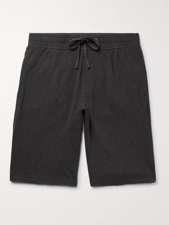 James Perse Loopback Supima Cotton-Jersey Drawstring Shorts