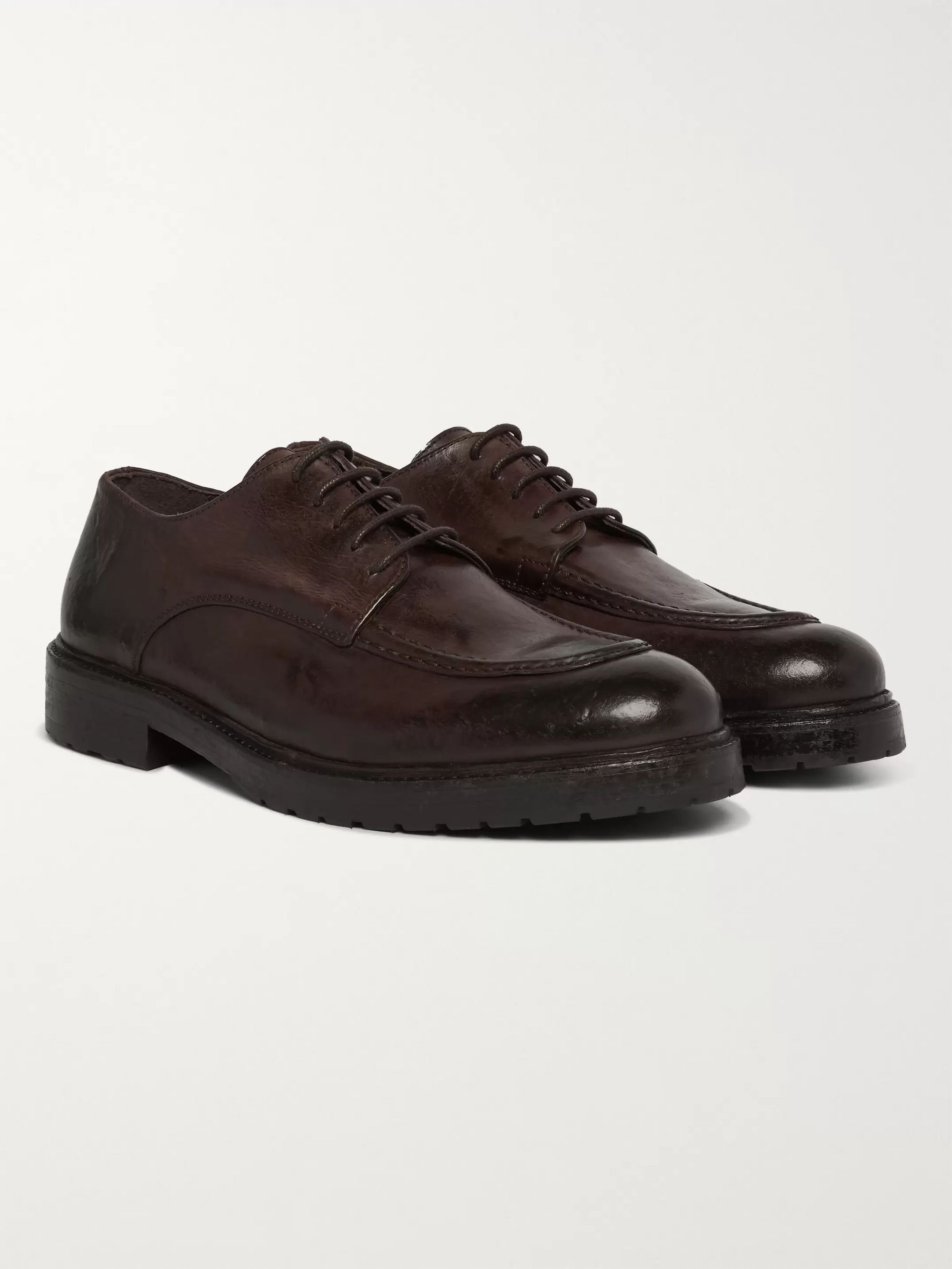 Burnished Leather Derby Shoes by Mr Porter