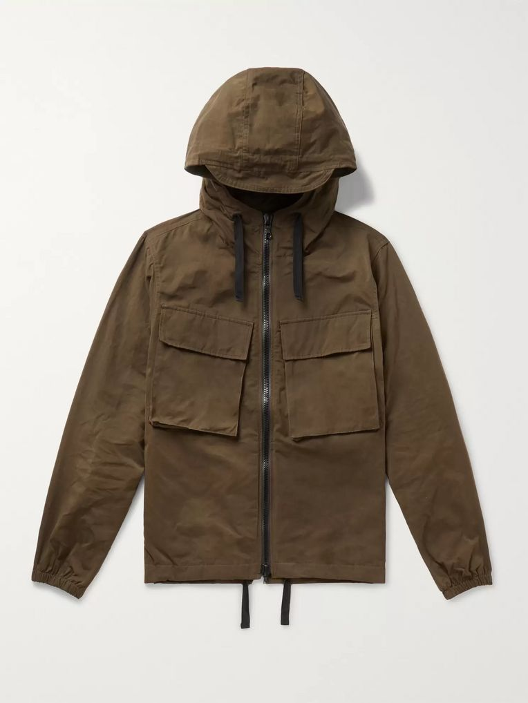 Officine Generale Noah Canvas Hooded Jacket