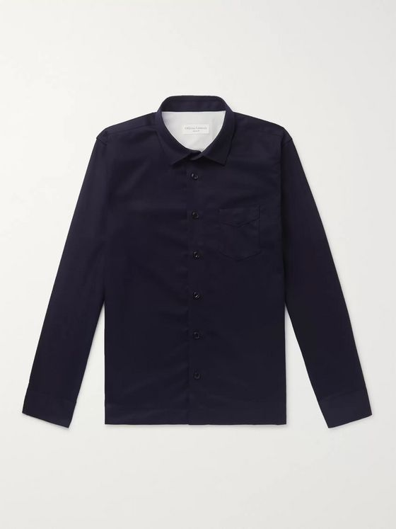 Officine Generale Wool-Flannel Shirt