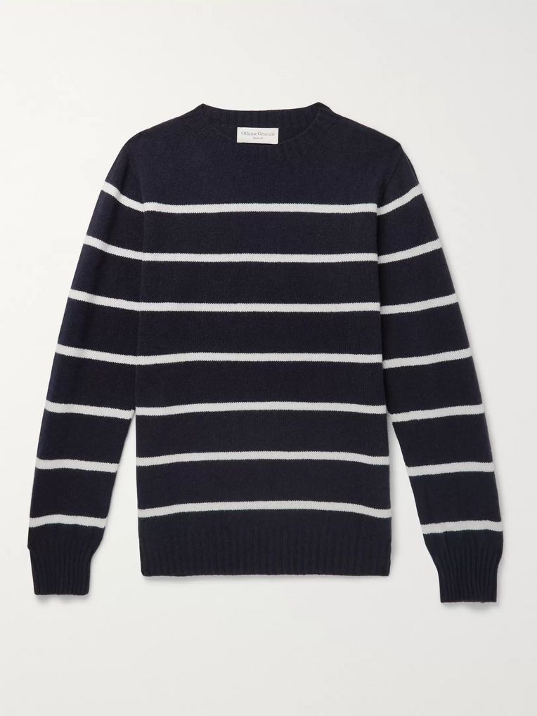 Officine Generale Striped Wool Sweater