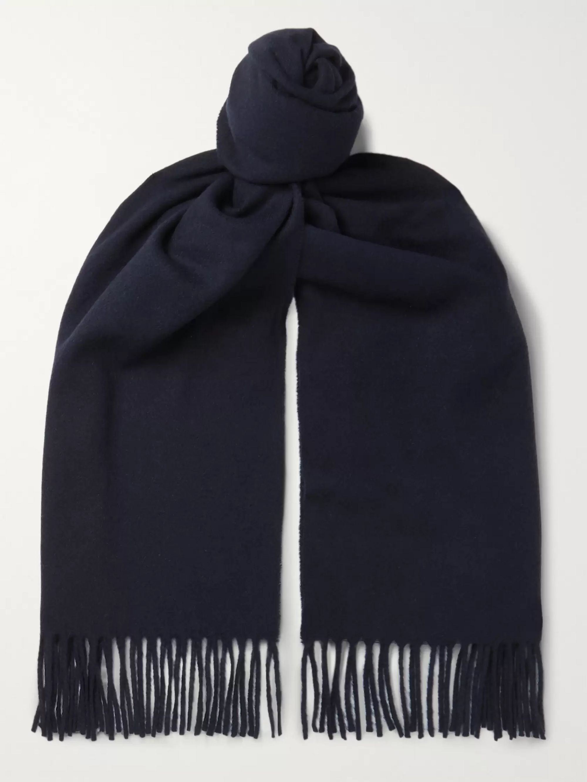 Officine Generale Fringed Cashmere Scarf