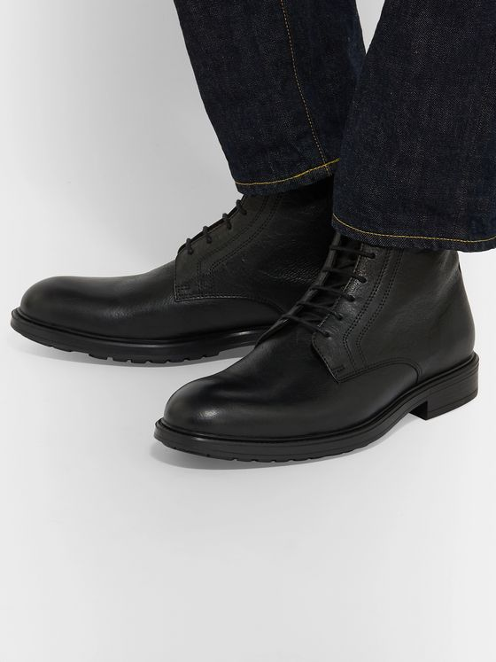 Officine Generale Full-Grain Leather Boots