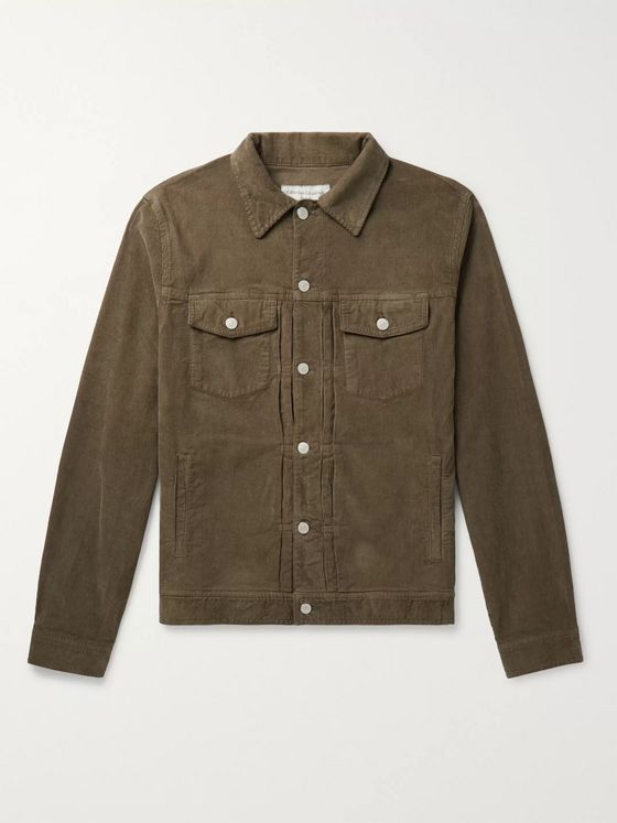 Officine Generale Liam Cotton-Blend Corduroy Overshirt