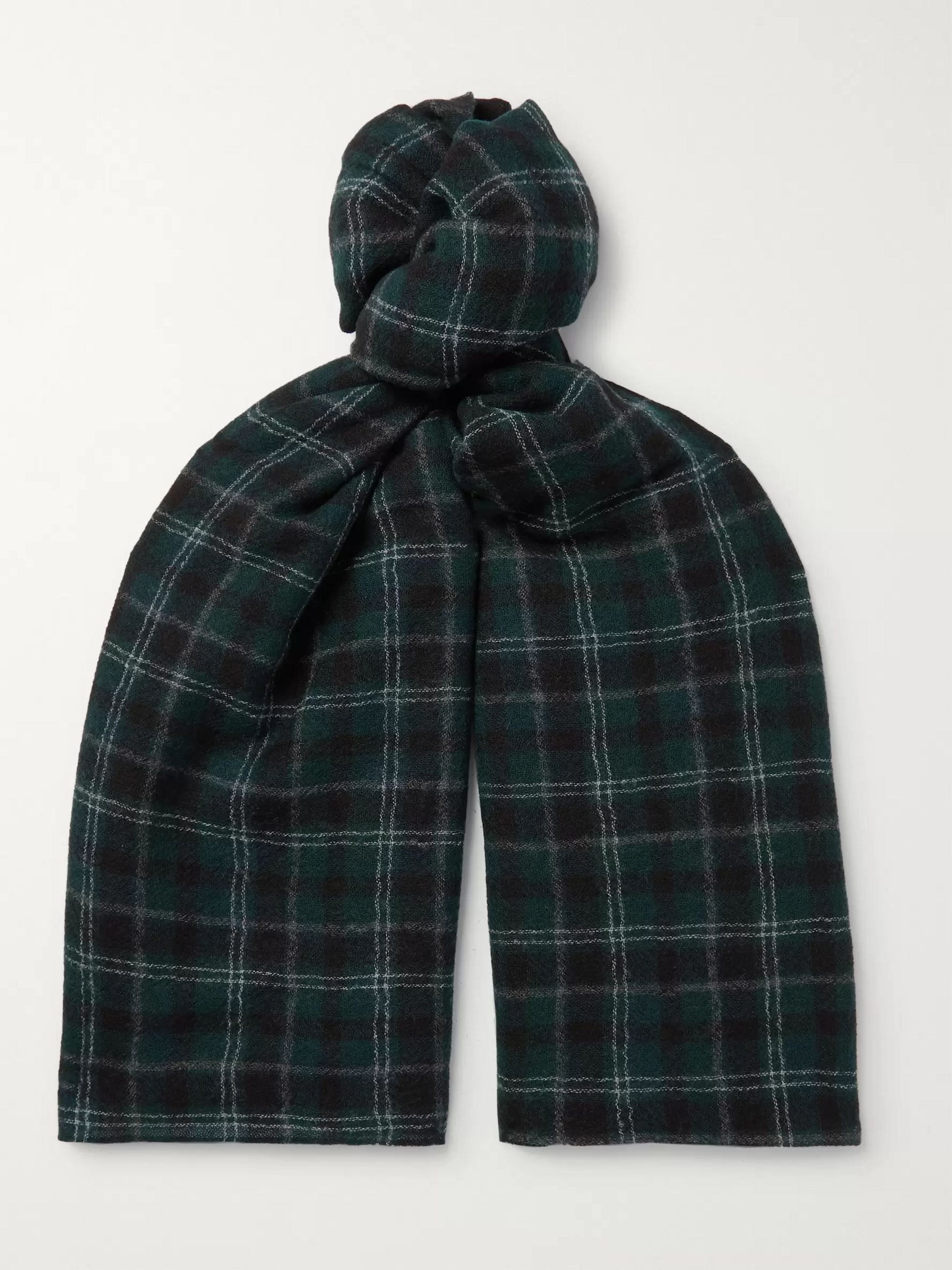 Officine Generale Checked Wool Scarf