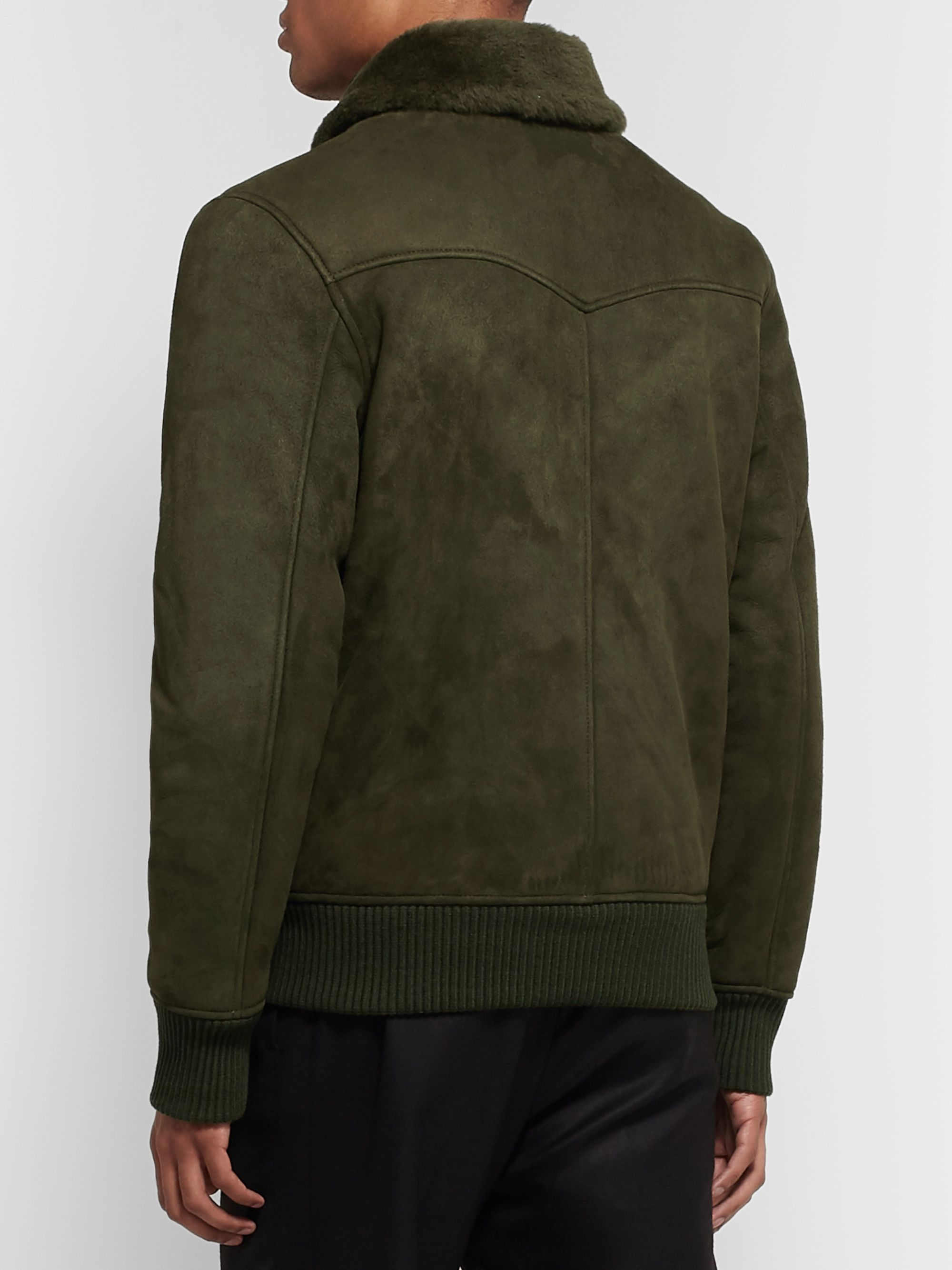 Officine Generale Saul Shearling Bomber Jacket
