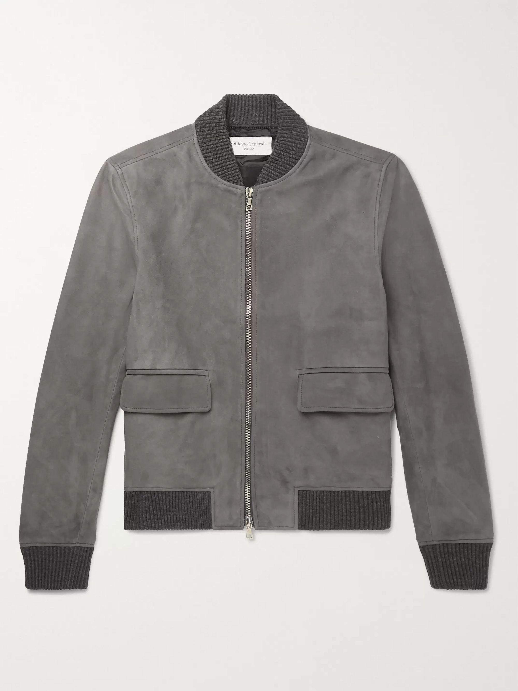 5d27500e4 Floyd Slim-Fit Suede Bomber Jacket