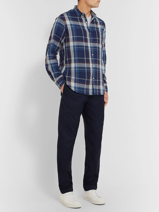 Officine Generale Checked Cotton-Twill Shirt