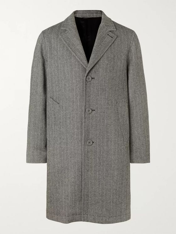 Officine Generale Arthur Herringbone Wool and Cashmere-Blend Coat